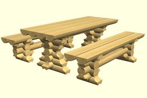 Комплект стол и лавочка